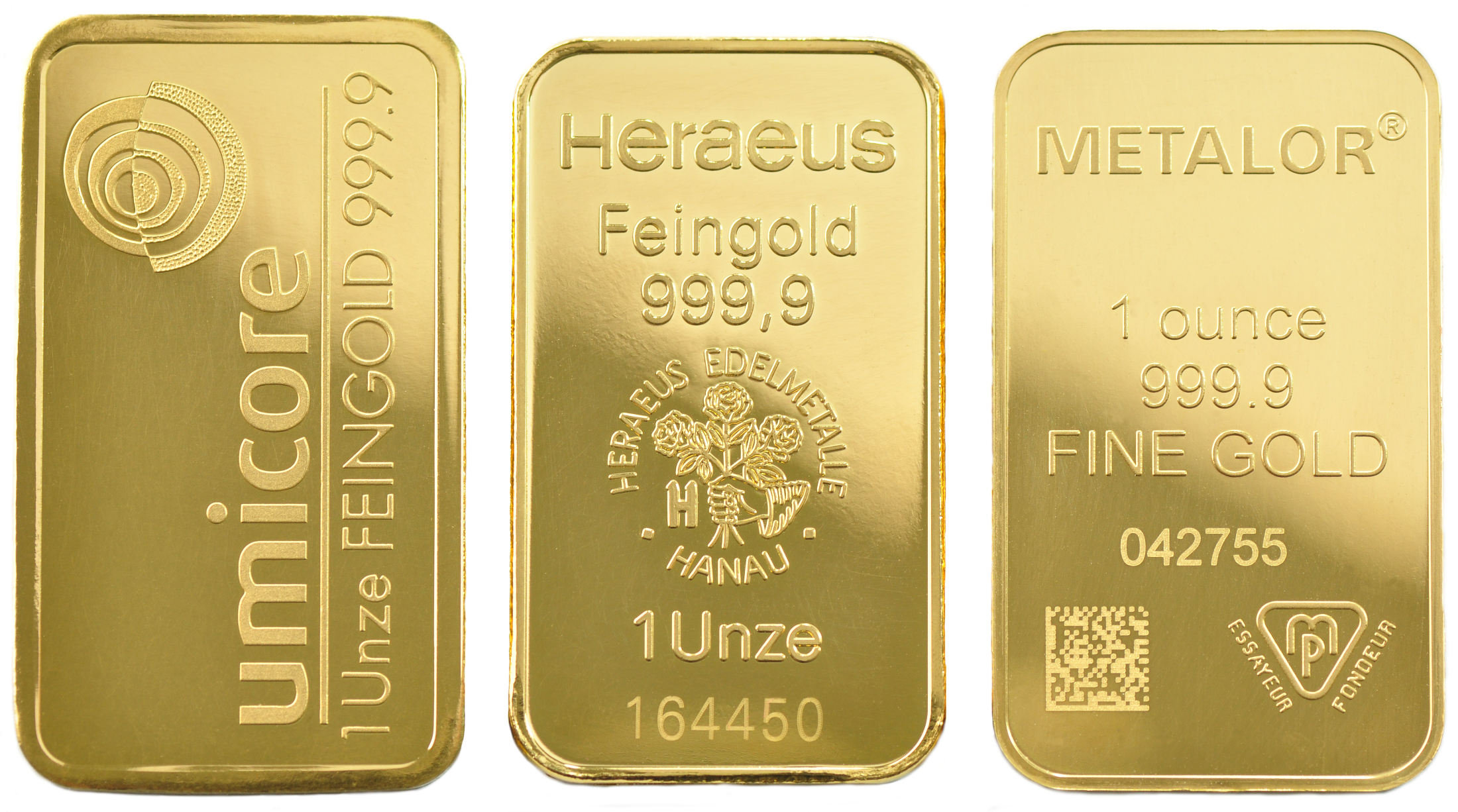 1 Ounce Gold Bars