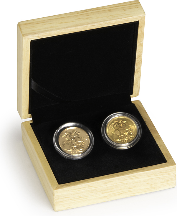 sc 1 st  Buy Gold Bullion & Golden Wedding 50th Anniversary twin Sovereign set Gift Boxed - u20ac778.80