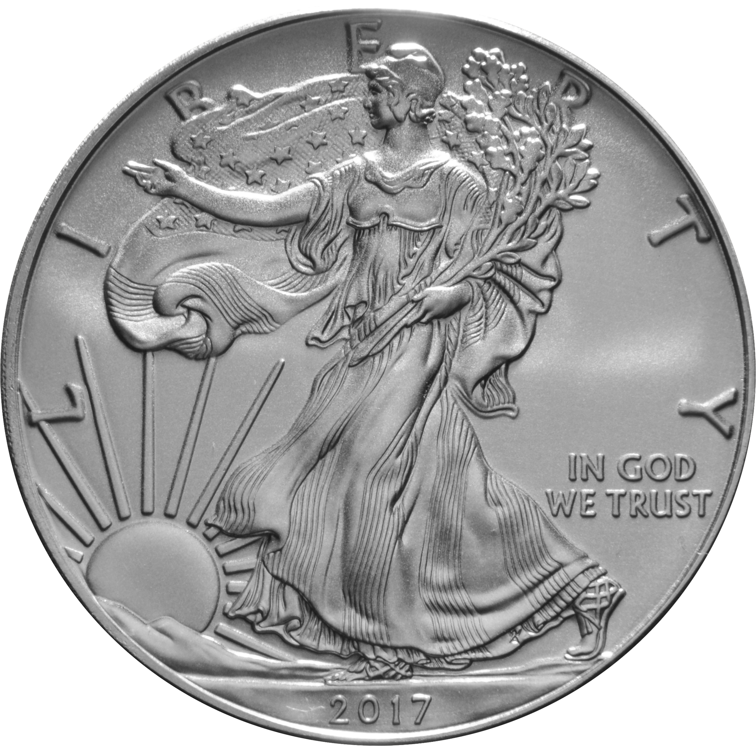 2017 Silver American Eagle One Ounce From 22 44