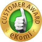 eKomi Gold Award for Customer Service