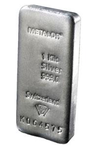 1kg Silver Bar