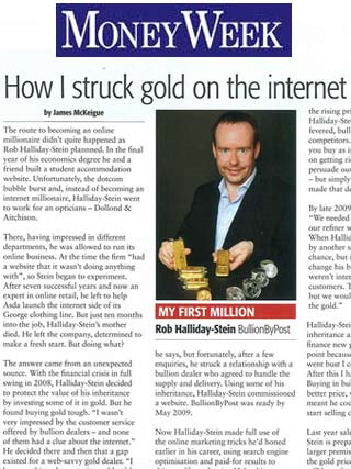How I Struck Gold on the Internet